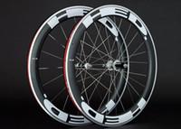 alüminyum yarış bisikletleri toptan satış-2018 HED JET kattığı bisiklet Karbon Alaşım jantlar 700c Alüminyum karbon fiber yol bisikleti yarış tekerlek