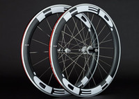 Wholesale Aluminum Road Wheelset - 2018 HED JET clincher bicycle Carbon Alloy wheels 700c Aluminum carbon fiber road bike racing wheelset