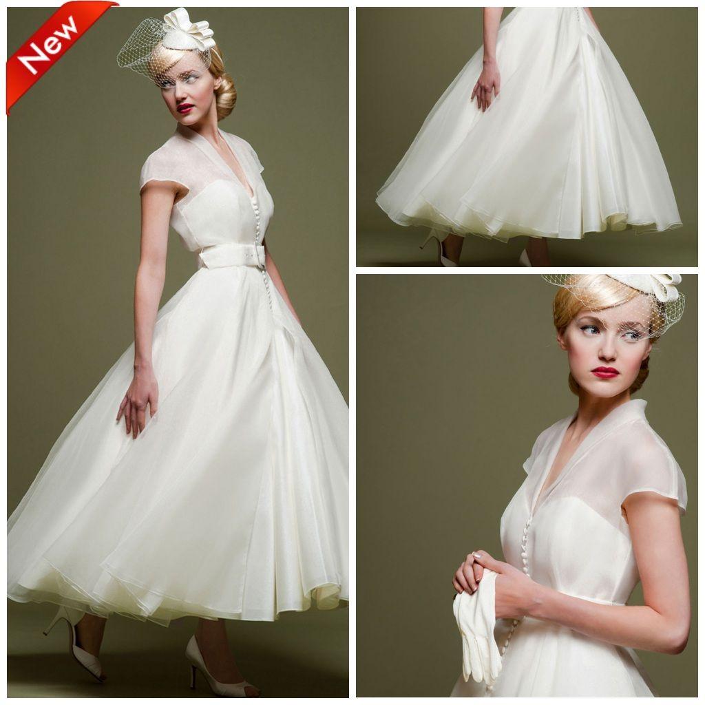 Discount Tea Length Short African Wedding Dresses 2019