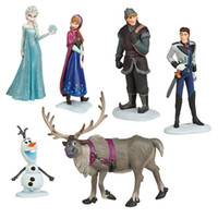 Wholesale Play Set Doll - Retail Frozen Figure Play Set,Frozen Princess Anna Elsa 6 figure set,movie princess doll toy