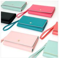 Wholesale Iphone 4s Korean Wallet - Korean cute envelope wallet case for iPhone 5 iPhone 4 4S N7100 i9300 i9500 i9220