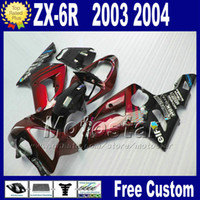 Wholesale kawasaki motorcycles plastic for sale - Group buy Fit For kawasaki Ninja ZX R plastic motorcycle fairings kit ZX R ZX636 ZX ZX6R red glossy black fairing bobywork qw9