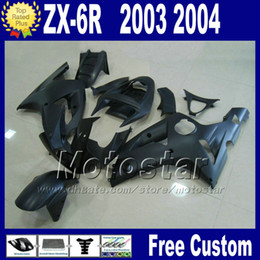 Body Ninja Zx Australia - Fairing kit For ZX6R 03 04 kawasaki Ninja ZX-6R 2003 2004 ZX636 ZX-636 all matte black ABS fairings set ZX 6R 636 body kits PL40