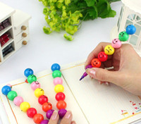 Wholesale Draw Crayons - new Creative study products inspirational assembling 7 colors drawing pencils crayon Painting toys colour pen best gift for the children