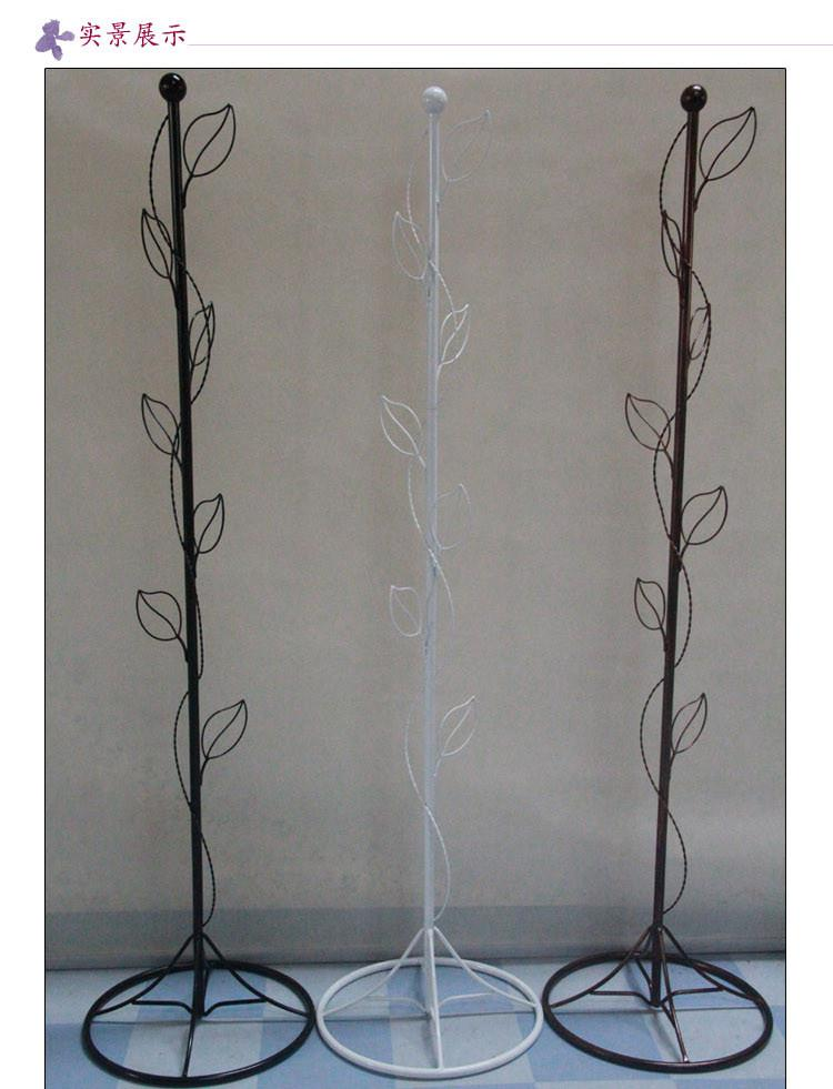 european creative hang clothes rack wrought iron clothes tree bedroom ground hanging clothes clothes tree leaves