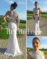 Wholesale One Arm Dresses - Out Arm Long Sleeve Sexy Prom Dress 2014 vestido de fiesta Long