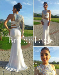 Wholesale Crystal Arms - Out Arm Long Sleeve Sexy Prom Dress 2014 vestido de fiesta Long