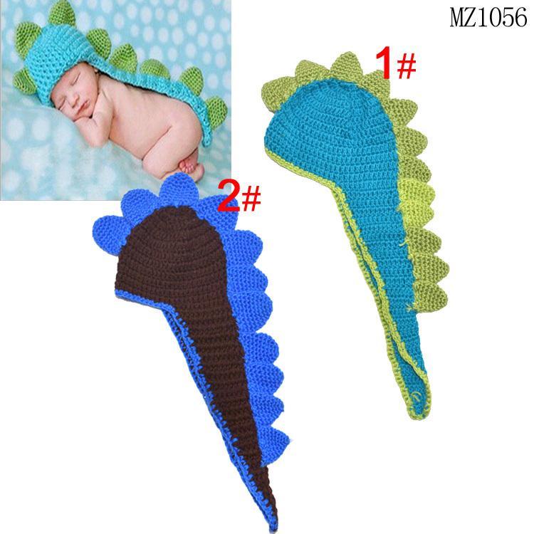 Compre Recién Nacido Bebé De Ganchillo Dinosaurio Sombrero Bebé De ...