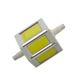 Toptan COB R7S 7W Sıcak Beyaz / Beyaz LED Taşkın Ampul 85-265V 78mm nereden led cul bulb tedarikçiler