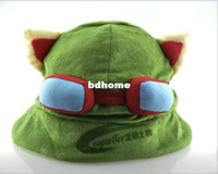 Wholesale League Cosplay Hot - Wholesale - - Hot game League of Legends cosplay cap Hat Teemo hat Plush+ Cotton LOL plush toys Hats F