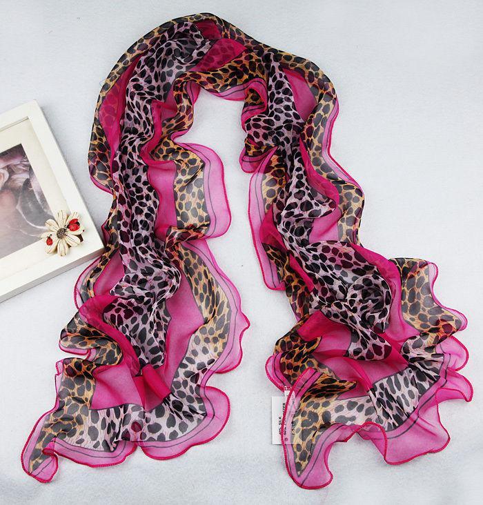 170X34cm 14 Stile Neue Damenmode Georgette Leopard Lange Wrap Schal Strand Seidenschal Mode-accessoires Wrap