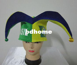$enCountryForm.capitalKeyWord Canada - STOCK!!!Wholesale 2014 World Cup Brazil Fans Hat Carnival Party Cap Hats Clown Hat