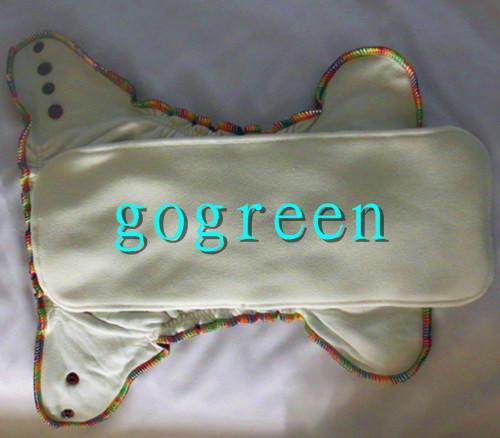 Envío gratis 2014 NUEVO diseño 400 piezas orgánico 100% algodón de bambú terciopelo pañales de tela del bebé pañal con inserciones