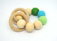 Wholesale Crochet Nursing Toys Wholesale - NEW Crochet nursing toy Teething toy - baby teether - crochet teether GREEN NT030