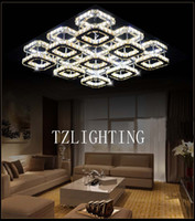 K9 Crystal Chandelier Light Modern Simple LED Stainless Stee...
