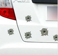 ingrosso adesivo auto di proiettili-60Pz adesivo per automobile chiari buchi da proiettile/Adesivi 3D/Adesivo fori di spari per automobile