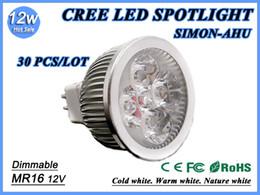 Wholesale Dhl Free Cree Led - Energy savinX30 DHL Free shipping High power CREE Led Lamp 9W 12W 15W Dimmable MR16 12V Led spot Light Spotlight led bulb downlight lighting