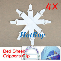 SheetS holder online shopping - 4x Bed Sheet Grippers Holder Clip Fasteners Elastic Set