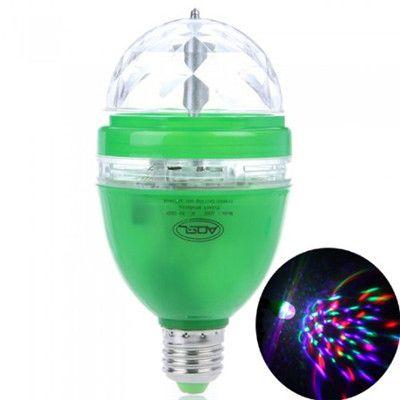3W E27 Lâmpadas 85-260V LED Cor Cheia do RGB Lâmpada Rotativa Discoteca DJ Festa de Som-ativado ou Controle Remoto Fase Lâmpada Frete Grátis