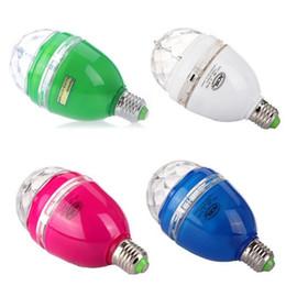 3W E27 Bombillas 85-260V Full Color de LED RGB de Rotación de la Lámpara de la Discoteca DJ Party Sonido activado por Control Remoto o Etapa de la Bombilla de 100 PIEZAS de Envío Gratis desde fabricantes