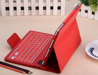Wholesale Ipad Air Keypad - Bluetooth Keyboard Leather Case qwerty Wireless Keypad Folio Case Stand For ipad 5 ipad air 9.7 with retail package