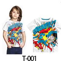 çocukların yazları toptan satış-Süper adam çocuk giyim çocuk kısa kollu T-shirt erkek çocuk yaz 2014 orta-büyük çocuk erkek t gömlek