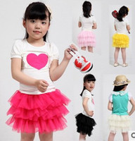 Wholesale Cute Green Cake - 6colors Baby TuTu Dress Style skirt Dresses Kids cute cake Skirt Girl's Pleated Skirt