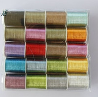 Wholesale Sewing Thread Roll - Hot! 120D 20 Rolls One Box 50 meters per roll Machine colorful Useful Rayon Embroidery Sewing Floss Thread ZBR