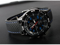 quartz movt relógios venda por atacado-Chegada nova Mens PRETO GRANDE DIAL man watch Sports Relógio de Quartzo Japão Movt Frete Grátis