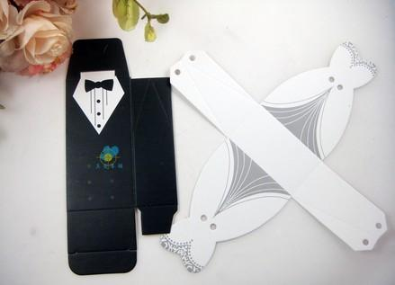 NEW Wedding candy box Bride Groom Wedding Bridal Favor Gift Boxes Gown Tuxedo TH1