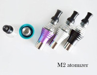 Wholesale Ego Twist 5pcs - 5pcs M2 Detachable Dry Herb Wax Atomizer LED Light Clearomizer EGO Cartmozier Bottom Heating Coil for E-Cigarette eGo-T eGo-C Twist