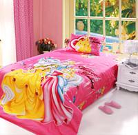 Wholesale Duvet Cover Princess - Bedding set 3pcs princess home textile kids duvet cover set cartoon girl bedding sheet bedclothes