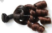 paquetes de pelo brasileño de 28 pulgadas al por mayor-Oxette ombré extensiones de cabello rizado rizado 3 o 4 paquetes 8-30 pulgadas de pelo brasileño de alta calidad tejido de dos tonos # 1b # 33