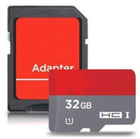 Android Robot Memroy SD Card 64GB 32GB 16GB SD TF карта памяти с адаптером Flash SD SDC карта Red Grey DHL