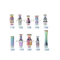 Wholesale Ego T Atomizer Stainless - Cheapest Rainbow Drip Tip Rich Styles Stainless Steel drip tips Metal Atomizer Mouthpiece for ce4 ego t ego w ego vv evod twist E Cigarette