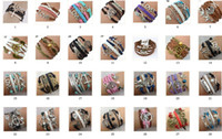 bracelets en cuir tressé multicouches achat en gros de-Stock bon marché HOT Sale 50 Styles Mix Bracelets Multi Layer Braided Leather Handmade Combination Pattern Colorful Charm Bracelets