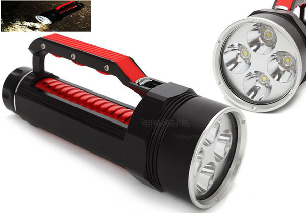 Wholesale - 2015 New 6800Lm Waterproof LED Flashlight Diving 100m 4x CREE XM-L2 LED Torches 26650 Free DHL