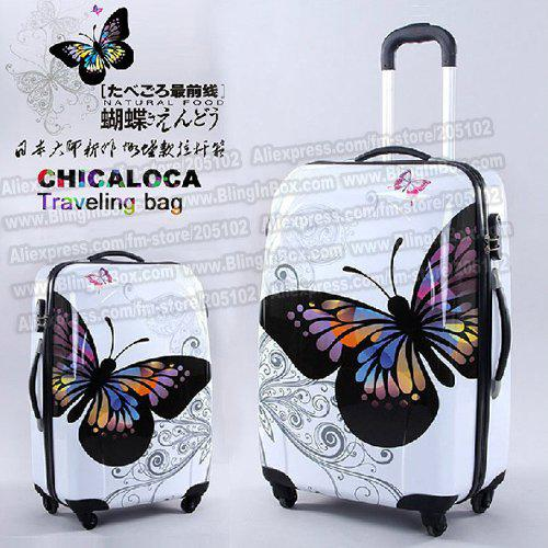 24 Inches Amazing Hot Sales Japan Butterfly Abs Trolley Suitcase ...