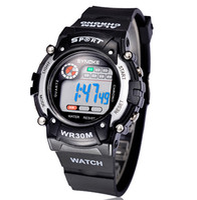 Wholesale Mix Kids Watch - Digital Sports Wrist Watches Men LED Watches Kid Waterproof Mix Colors Drop Free Shipping