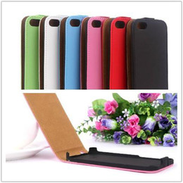 Wholesale Iphone5c Flip Cover - Flip PU Leather Case Cover For iPhone 4 4S 5 5S 5G 5C iPhone5C iPhone4 iPhone5 Vertical PU Cases 7 colors Skin Ship by DHL or FEDEX