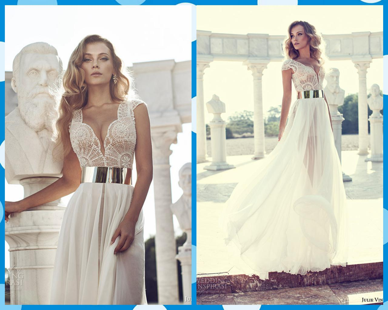 Mermaid Wedding Gowns With Sleeves: Julie Vino 2014 Wedding Dresses Lace V Neck Mermaid Bridal