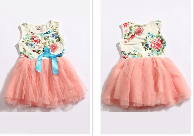 c4d4d8f04 New Girls Dresses Girl Tutu Dress Baby Clothing Flowers Kids Cotton ...