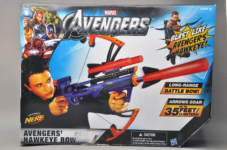 Heat authentic NERF Hasbro Children's toys Avengers Hawkeye bow and arrow shooting crossbow gun