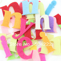 Wholesale Set of mm fabric wool Felt Letter Alphabet mixed color educational toys patch applique for DIY needle craft BY0121
