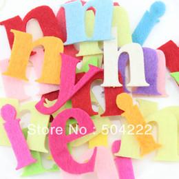 Wholesale Diy Felt Fabric - Set of 250pcs 40mm fabric wool Felt Letter Alphabet mixed color educational toys patch applique for DIY needle craft -BY0121