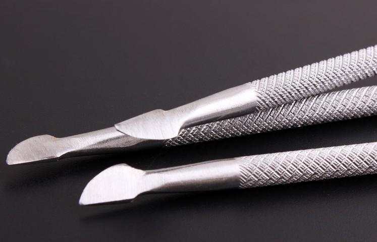 Le plus bas Prix / Cuticule Nail Art Pusher Cuillère Manucure Pédicure Cutter Remover Soins Outil Nouvelle livraison gratuite