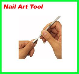 Низкая цена 500 шт. / лот кутикулы ногтей толкатель ложка маникюр педикюр резак Remover Care Tool новая бесплатная доставка на Распродаже