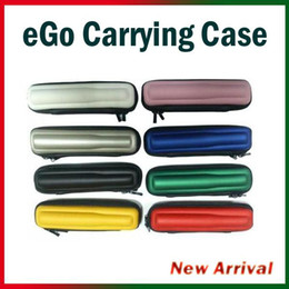 Wholesale Ego T Carry Case - eGo Case Small Ecig kits 8 Colors Leather Case for ego t ego w ego c Electronic Cigarette Starter Kits E Cig Carrying Case(02060100)