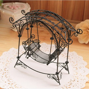 Multicolor High quality Princess Swing European Wire Crafts Retro Pastoral Jewelry Display Stand Earring Holder Photo Props Z161
