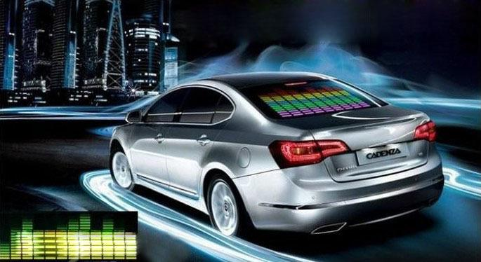 Música do carro Ritmo Da Lâmpada Som Música Ativado por Voz Colorido Flash LED Luz EL Folha de Adesivos de Carro Acessórios Exterior